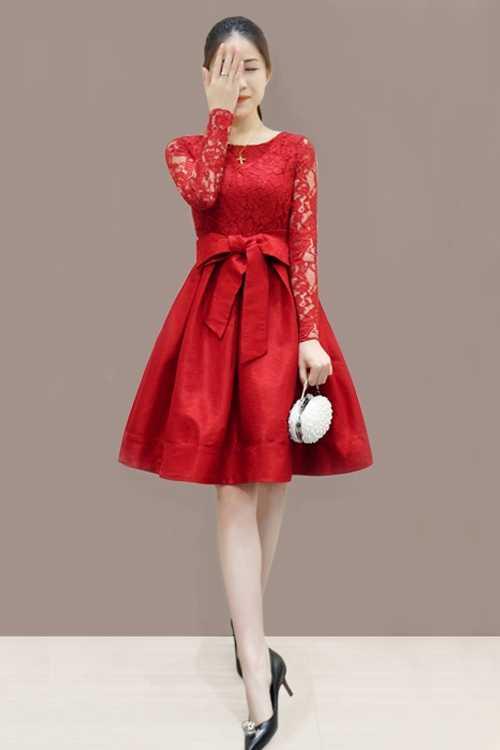 00ce8eedcf0e ... 2018 New Vintage Lace Dress Korean Style Plus Size Women Dresses Bow  Tie Straps Elegant Fall