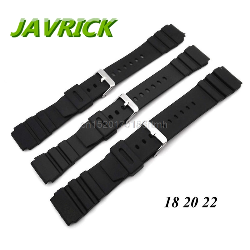 18mm – 22mm Silicone Rubber Watch Strap Band Deployment Buckle Diver Waterproof