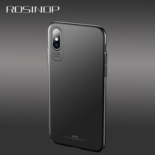 ROSINOP Ultrathin Hard PC Frosted Case For iphone x Plain Full Cover Protection xs max xr Anti-knock Covers