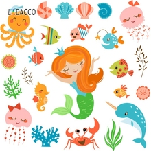 цена Laeacco Cartoon Mermaid Party Backdrop Baby Portrait Photography Backgrounds Customized Photographic Backdrops For Photo Studio