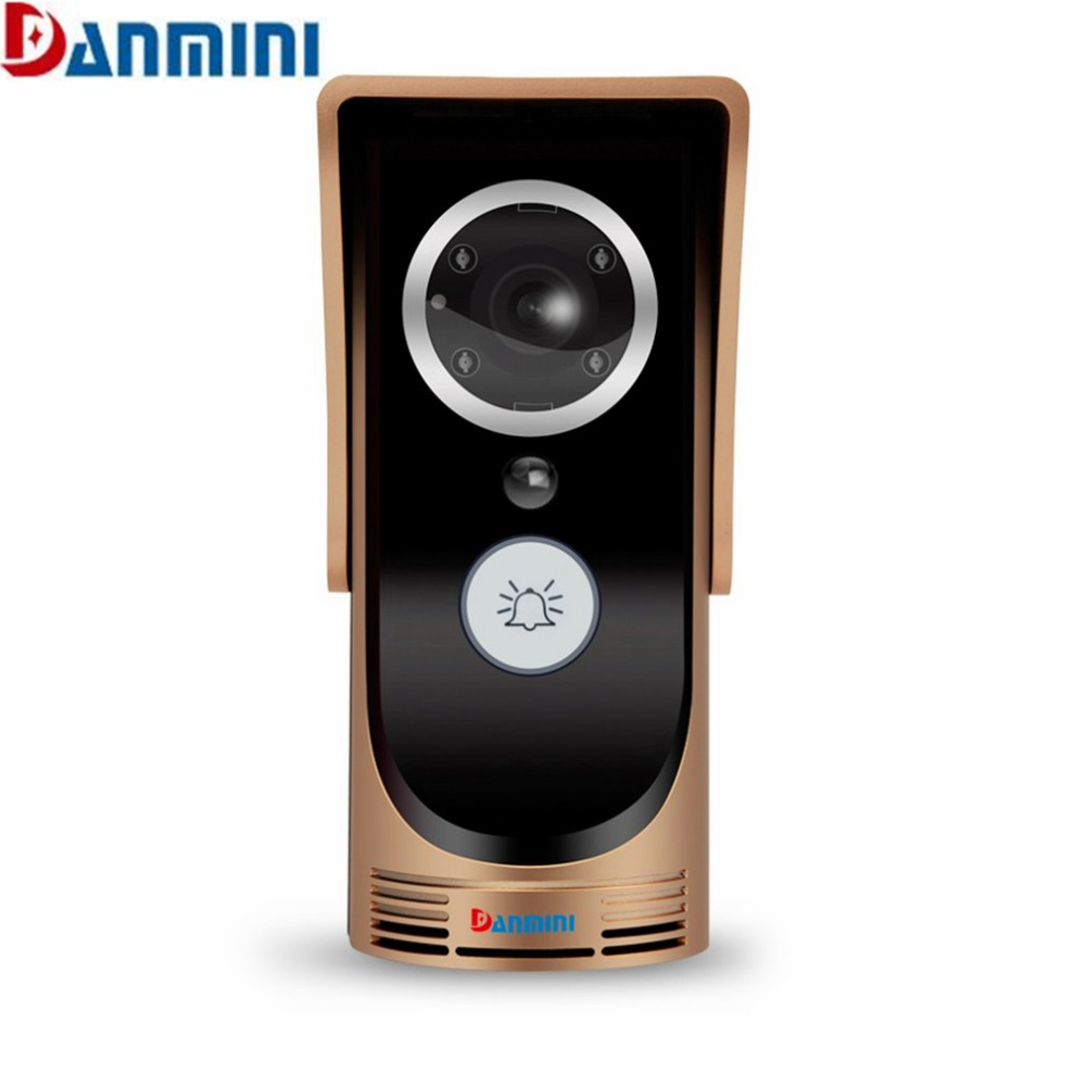 DANMINI 720P HD Wireless WiFi Video Doorbell Peephole Viewer IR Night Version Camera Door Phone Visual Intercom Smart Doorbell mobile wifi wireless video door phone intercom doorbell peephole camera night vision alarm smart home wireless visual intercom
