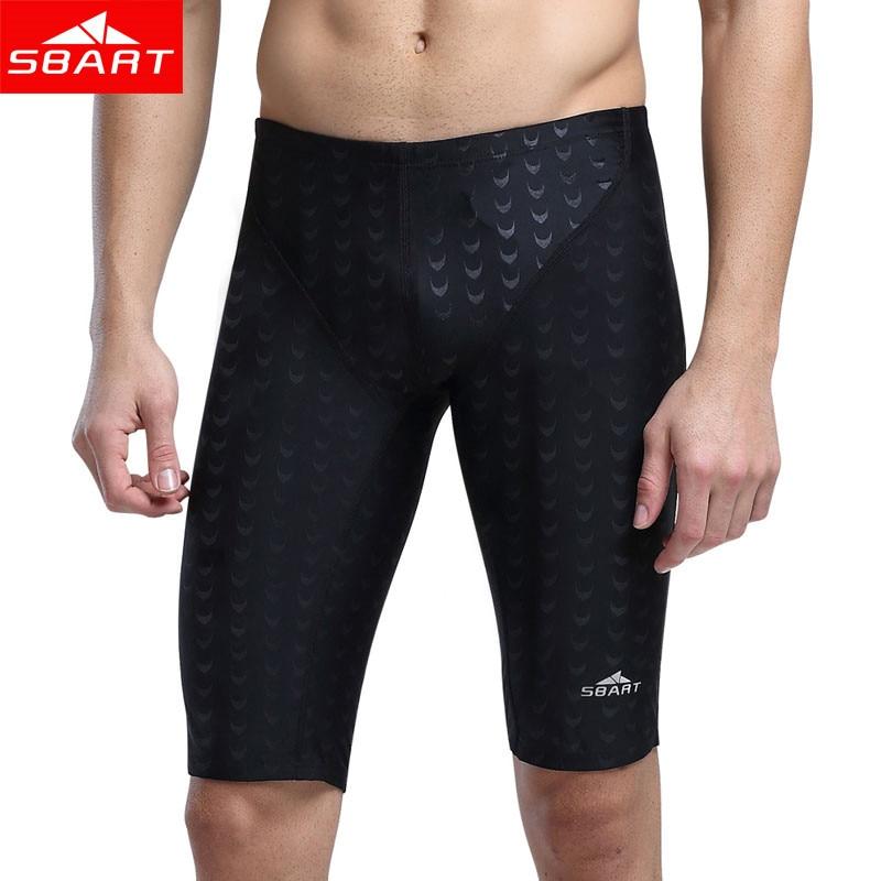 SBART Hot Swimwear Men Competitive Swim Briefs Trunks Male Swimsuit Racing Jammers Sharkskin Swimming Board Shorts Plus Size 5XL