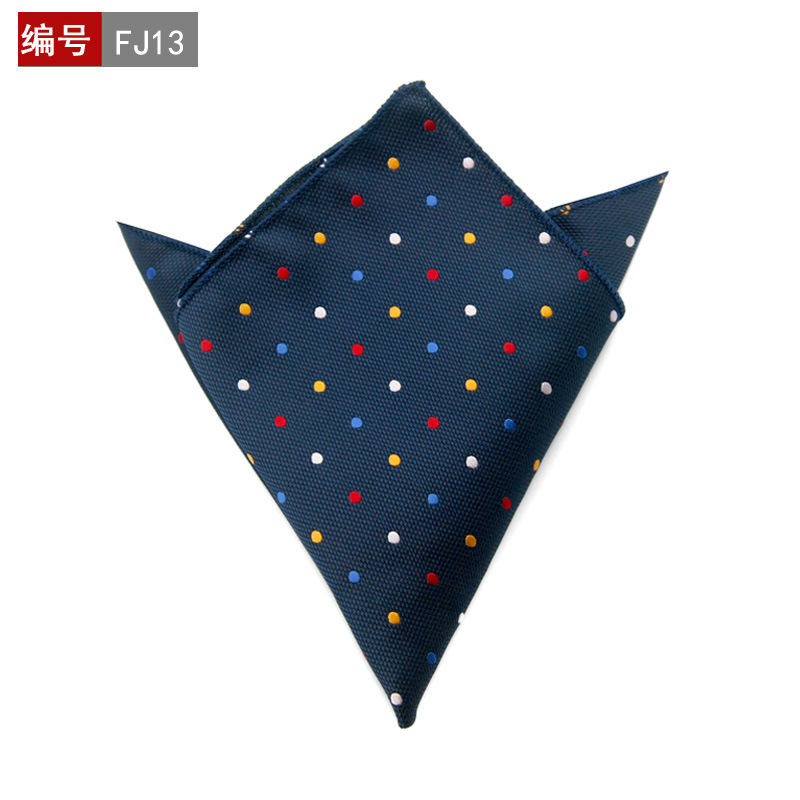 Brand Fashion Cotton Pocket Squares Men Paisley Square Handkerchief Polka Dots Men Wedding Suit Square Pocket