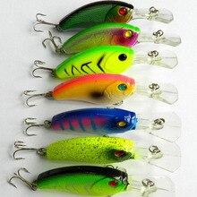 7pcs 9CM 11.8G 6#japan hooks crank Fishing lures long lip hard plastic pike peche bass fishing baits isca pesca fishing tackles