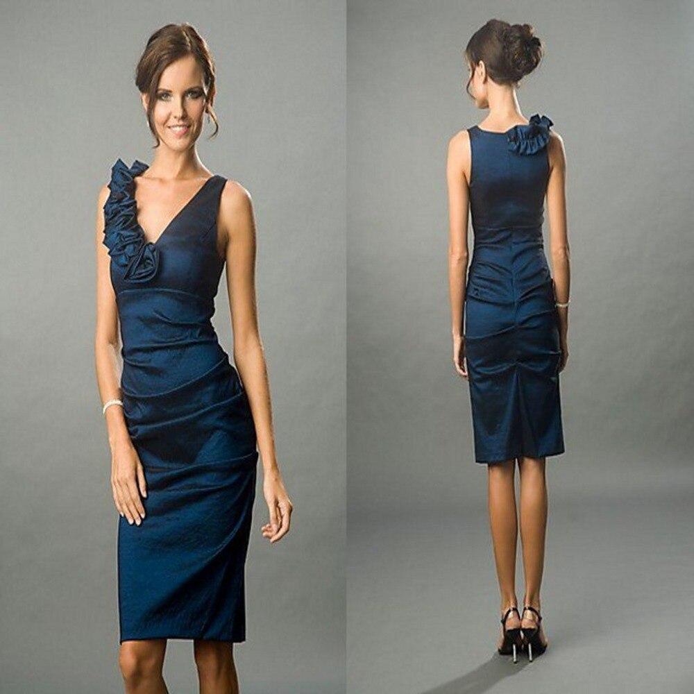 Sapphire Blue Knee Length Dress