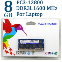 ADATA DDR3 DDR3L 2GB 4GB 8GB 1600MHz Ram Memory SO DIMM 204 Pin 1600 1333 For