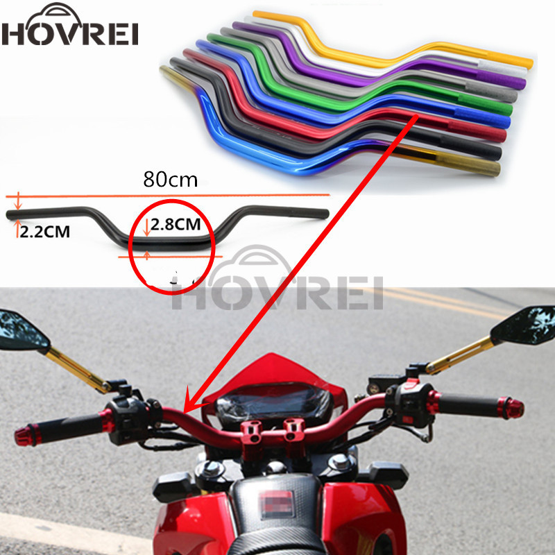 1 1//8 28mm Motorbike Mid Handlebars Handle Tubes For ATV Quad Dirt Bike Black