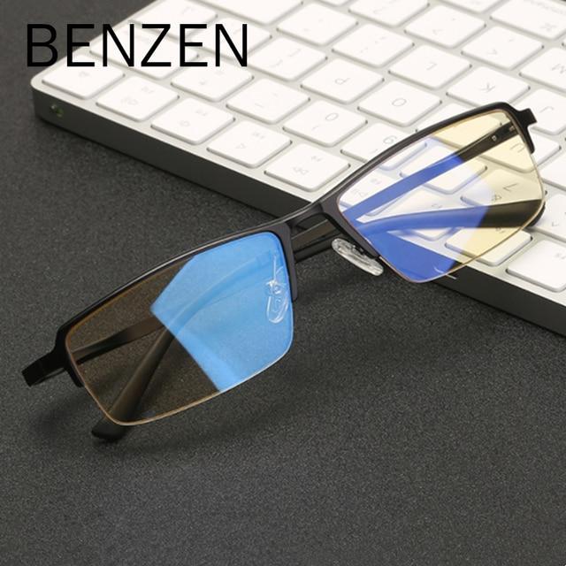 f563a3b7d048f BENZEN Homens Óculos De Computador Al-Mg Anti Raios Azuis Jogos de  Computador Óculos de Proteção UV de TV do Sexo Masculino Óculos de Miopia  Frame Ótico ...