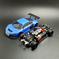 MINI D1/28RC Mini Drift Race 4 wheel Drive Front and Rear Drive RC Racing R8 Car Assembling Model Toy