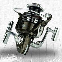 YUMOSHI Metal Spool Spinning Fishing Reel 12+1BB 5.5:1 Superior Wheel for Freshwater Saltwater Fishing BY1000-7000 Series