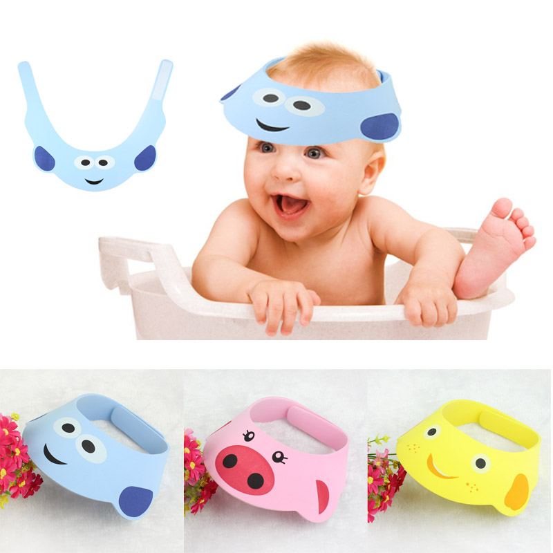 For Baby Adjust Shampoo Shower Bathing Bath Protect Soft Cap Hat Blue touca feminina hats for baby protect baby care soft baby child bath shampoo shower cap hat pink
