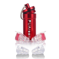 PUAroom High Fidelity Earplugs With 2 Different Sizes Reusable Silicone Ear Plugs For Musicians Motorcycles Live