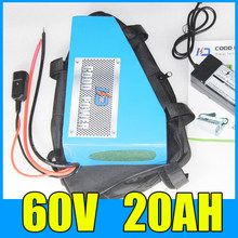 60v 20ah Triangle lithium ion battery for ebike scooter motorcycle 1500W battery pack Free 6A Charger BMS shipping and duty(China)