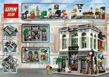 LEPIN 15001 2413Pcs Creator Brick Bank Model Building Kits Minifigure Blocks Bricks Toy Bricks Gift