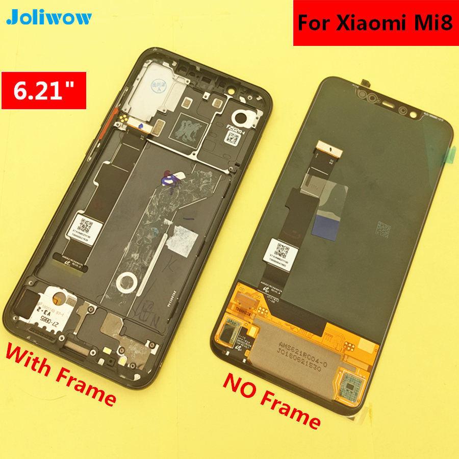 6 21 AMOLED LCD For Xiaomi MI Mi8 Mi 8 LCD Display Touch Screen With Frame