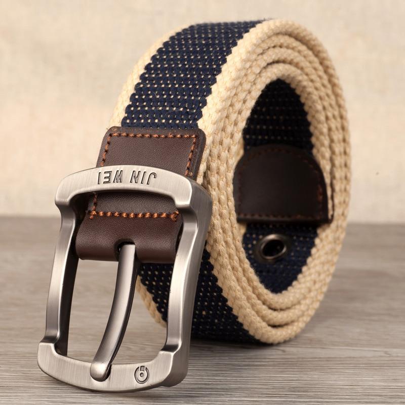 New Arrival Fashion designer cnavas belt  high quality FOR Men's jeans female Casual fashion tactical belt 105-140cm pin buckle
