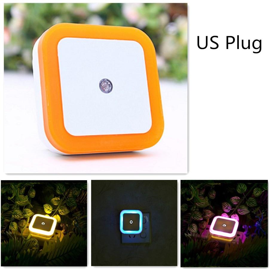 US Plug Night Light  And Energy Saving Light Sensor Wall Lamp