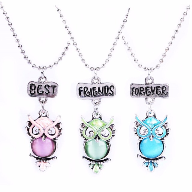 3 in set kids baby children lovely party accessories owl animal girl boy necklace friends buds Jewelry fashion 7609