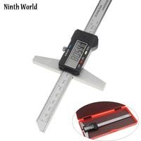 Ninth World 0 150mm 6 Metric Imperial Digital Depth Vernier Caliper Micrometer Stainless Steel Electric Digital Depth Gauge