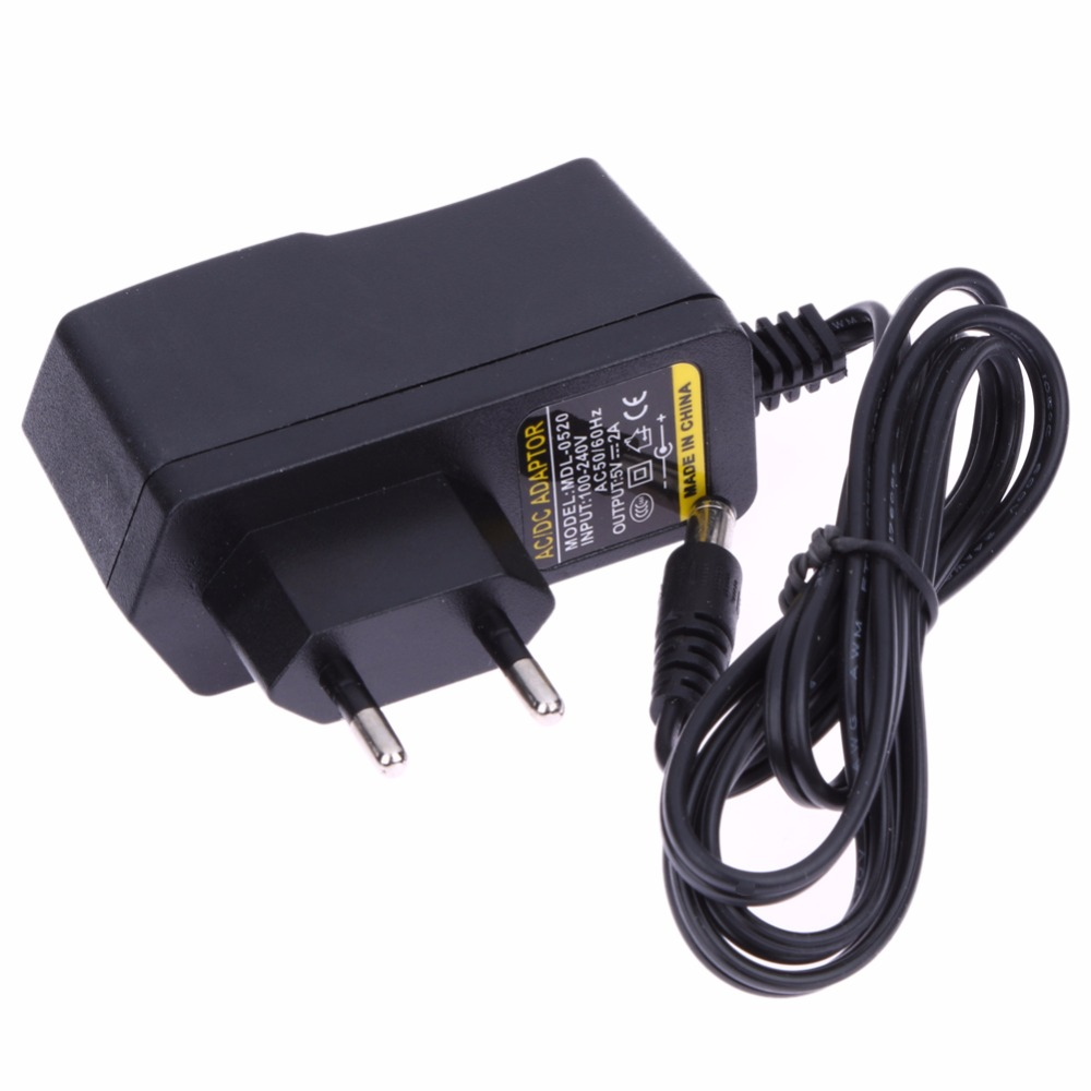 цена на AC 100-240V to 5V 2A Converter Adapter DC 5.5mm x 2.5MM 2000mA Charger EU Plug Switching Power Supply