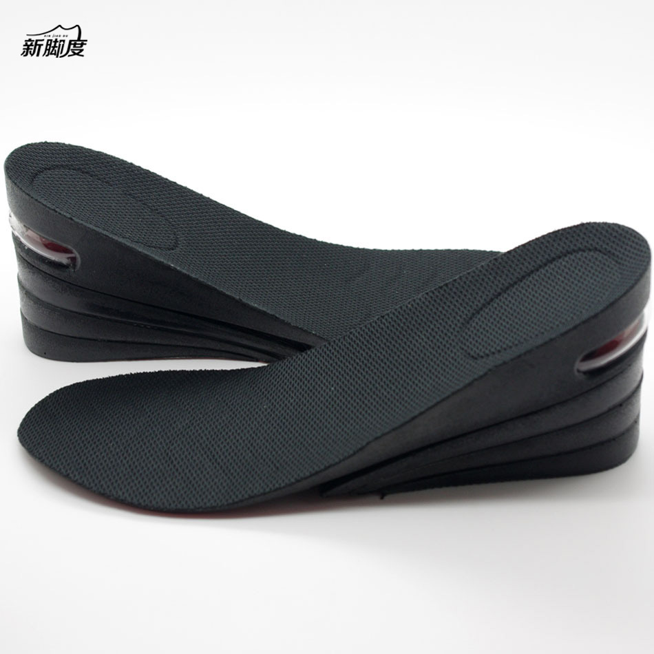 Men PU Adjustable height increasing Elevator insole Lift ...