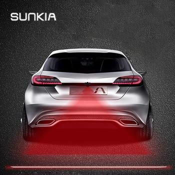 цена на SUNKIA Anti Collision Rear-end Car & Motorcycles Laser Tail Fog Light Auto Brake Parking Lamp Rearing Warning Light Car Styling