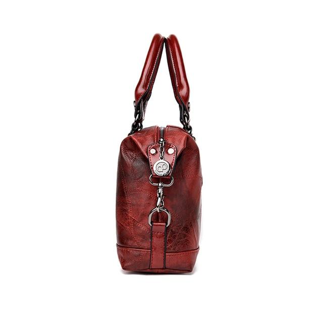 Schoudertas Dames 2019New Fashion Women Shoulder Bag PU Leather Luxury Handbags Women Bags Designer Vintage Ladies Hand Bag 2