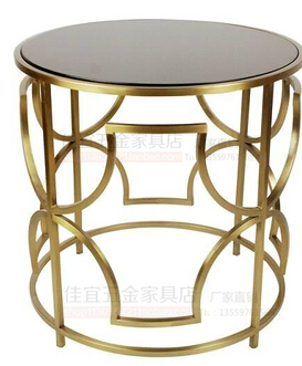 Gold plated stainless steel small tea table