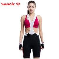 Santic Women Cycling Clothing Bib Shorts Black Spandex Triathlon Running Sleeveless MTB Bike Bicycle Shorts Skinsuit