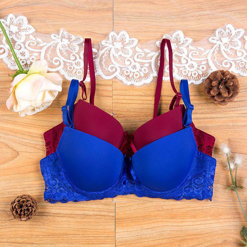 Women Girl Seamless 3/4 Cup Push Up Bra Adjustable Support Bra Lingerie Underwire Underwear Size 34A-36B M01