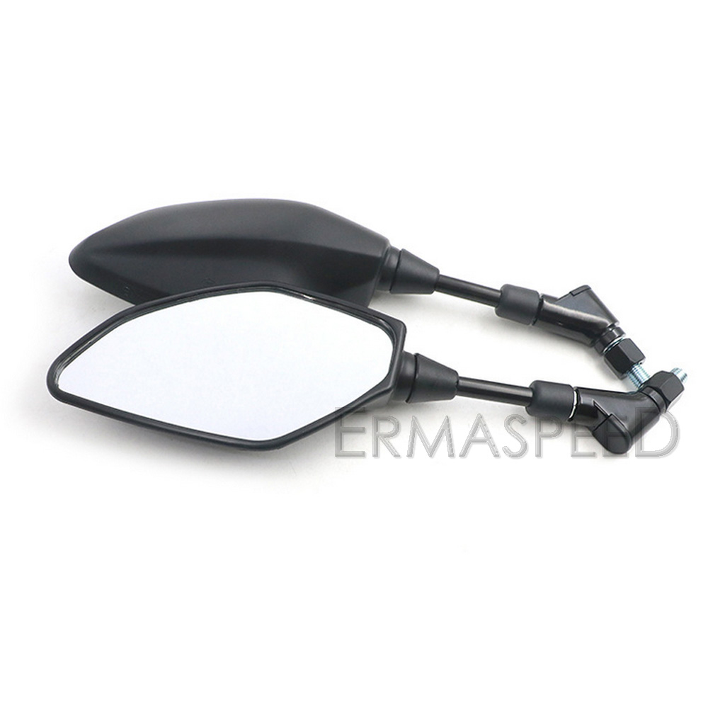 US $28 49 |Pair Motorcycle Rear View Mirrors Handlebar Size Convex Mirrors  Black Housing for YAMAHA MT25 MT03 MT09 MT07 FZ09-in Side Mirrors &