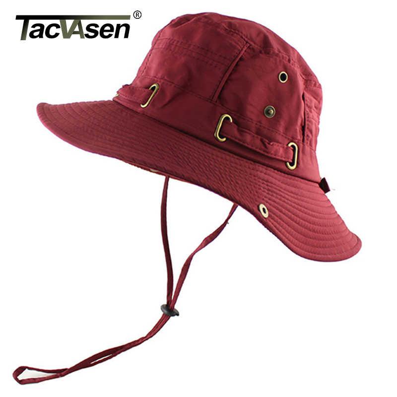 TACVASEN Summer Tactical Sniper Boonie Hat Men Sun-proof Military Flat Bucket Hat Army Cap Hats Hunt Fish Sun Hat Lightweight