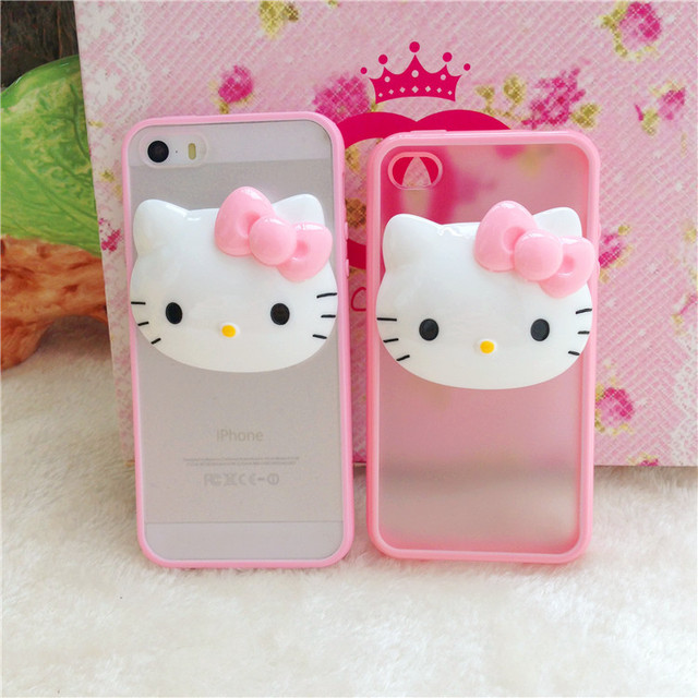 newest 75049 5bdb2 US $34.38 |Cut Baby pink color phone case 3D Hello Kitty Style TPU Back  cover Case For iPhone 4 4s 5 5s 5c 6 4.7 inch 6plus 5.5 inch on  Aliexpress.com ...