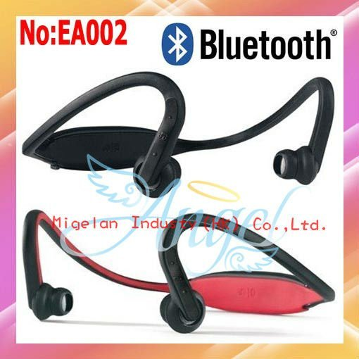 Wholesale S9 Wireless Earphone Headset   Stereo Bluetooth Headset For Music phone or iPod   Free shipping By FedEx #EA002