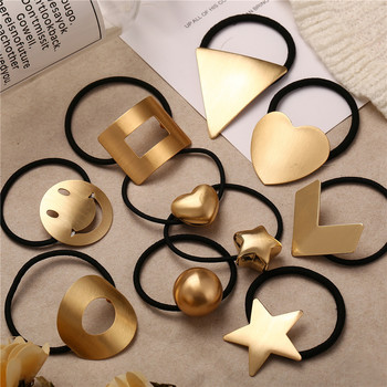 Fashion Metal Elastic Hair Jewelry For Women