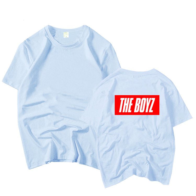 The boyz debut album the first same printing o neck <font><b>t</b></font> shirt kpop summer style unisex fans supportive short sleeve <font><b>t</b></font>-shirt image