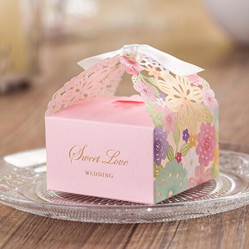AVEBIEN 20pcs Colorful Candy Box Elegant Romantic Wedding