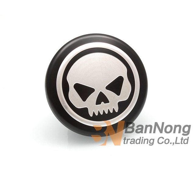 Motorcycle New CNC Modified skull Logo Fuel Gas Tank Cap Fuel tank cover For Harley Dyna Road king Touring Softail XL 883 1200