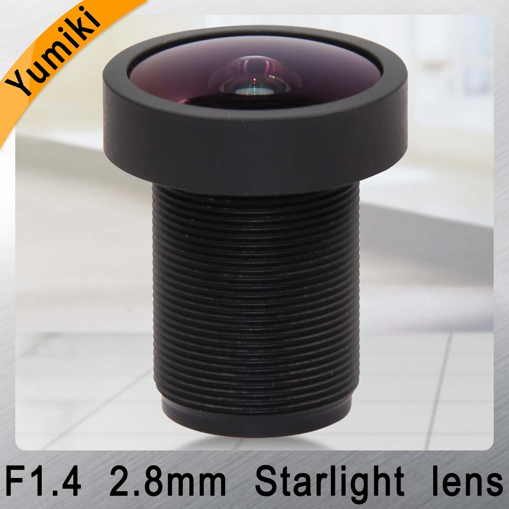 Yumiki <font><b>M12</b></font> CCTV <font><b>2.8mm</b></font> lens F1.4 Focal Length <font><b>2.8mm</b></font> Sensor 1/2.5