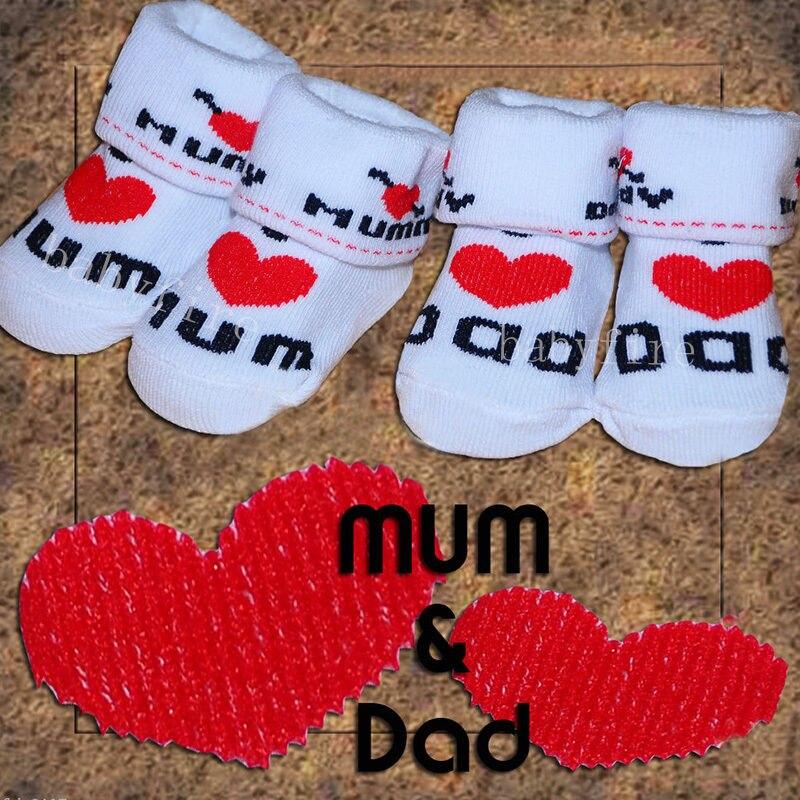 I Love Heart Mom Baby Babies Infant Socks