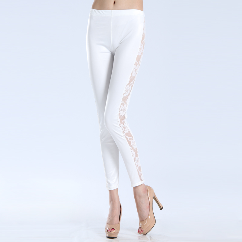 Wet White Leggings