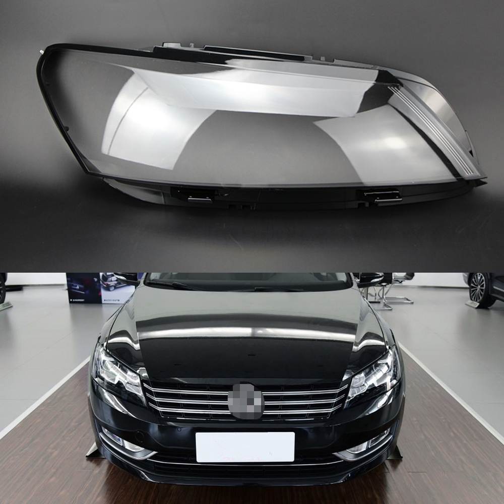 For Volkswagen VW Passat B7 2011 2012 2013 2014 2015 Transparent Car Headlight Headlamp Clear Lens