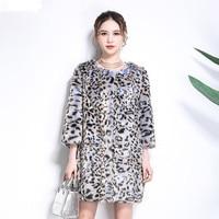 2018 New Fashion Winter Large Size Faux Fur Coat N22