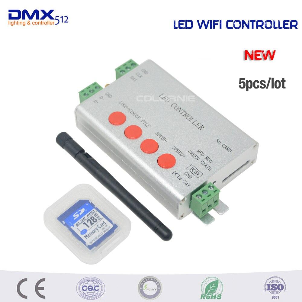 DHL livraison gratuite H806SB contrôleur 5 pcs/lot led couleur programmable, contrôleur de bande, 1 lecteur de port 2048 pixels, support WS2812