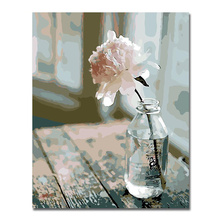 WEEN One Flower Pictures By Numbers On Canvas DIY Elegant Digital Oil Painting Coloring Home Decor Art Gift Poster