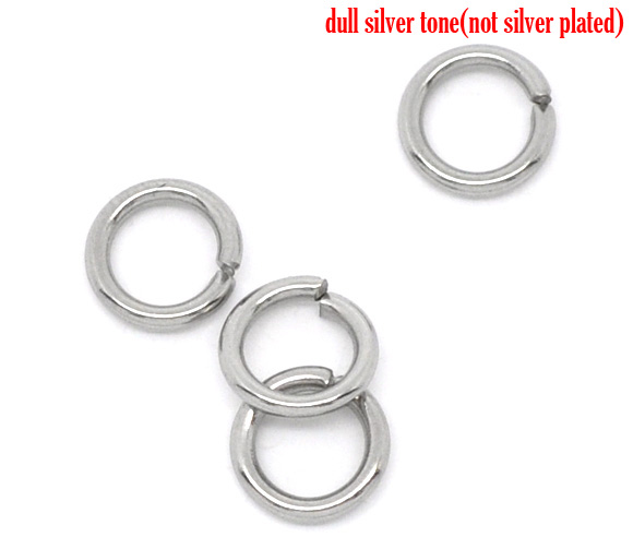 DoreenBeads Stainless Steel Open Jump Rings Silver Tone 6mm Dia. Findings, Sold Per Packet Of 50 2017 New