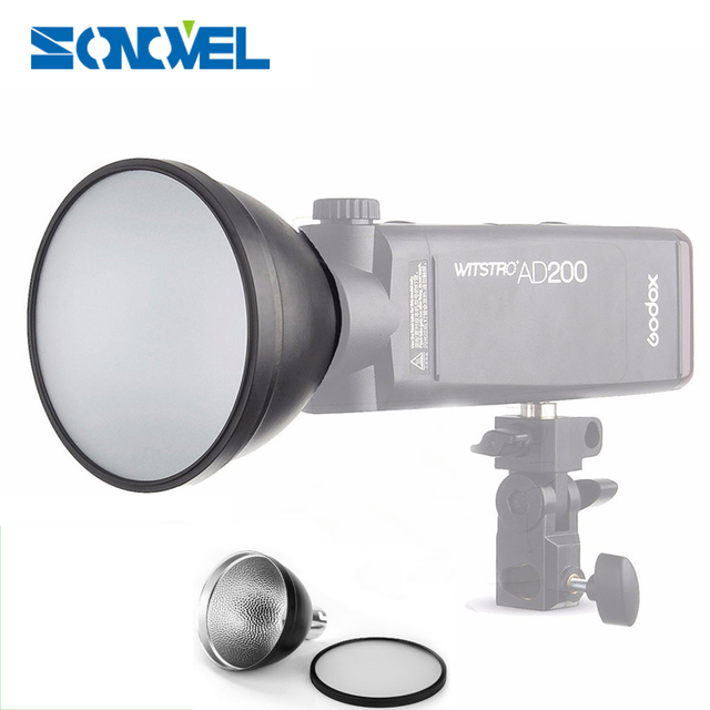 Godox AD200 Specially customized AD-S2 Standard Reflector Cover with Soft Diffuser For Godox AD200/AD180/AD360/AD360II