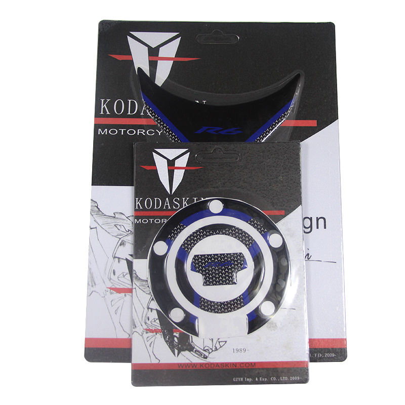 KODASKIN Protection Gas fuel Tank Cap Pad Sticker for YAMAHA yzf R6 blue