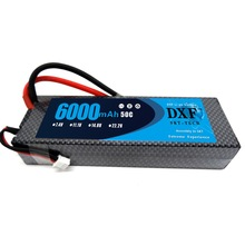 DXF 7.4V 6000mAh 50C Макс 100C LiPo Батареясы 2S HardCase 1/8 1/10 RC Car Model үшін Traxxas Slash Emaxx Band