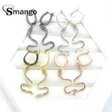 3Pairs,The Rainbow Series,The Snake Shape Women Fashion Earrings.4 Colors, Can Mix,  Wholesale